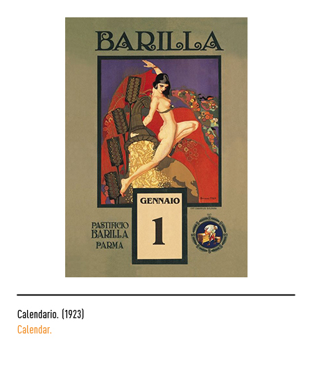 Calendario 1926.The Barilla Logo History And Evolution