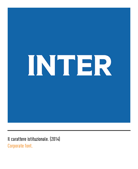 Carattere font marchio logo Inter
